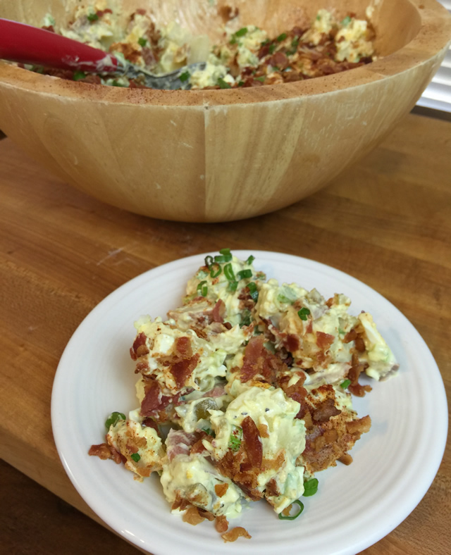 Southern Style Potato Salad with Bacon Recipe