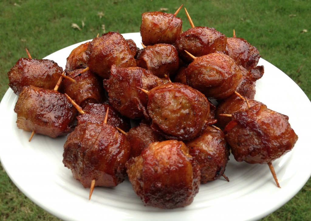 Bacon Wrapped Meatball Smoked