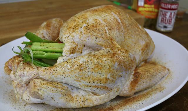 smoked turkey on the big green egg
