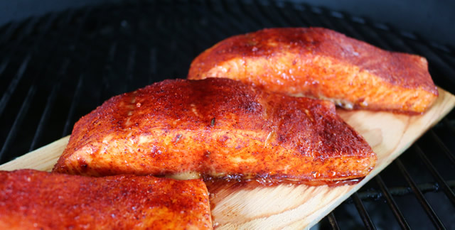 Grilled Salmon on Big Green Egg