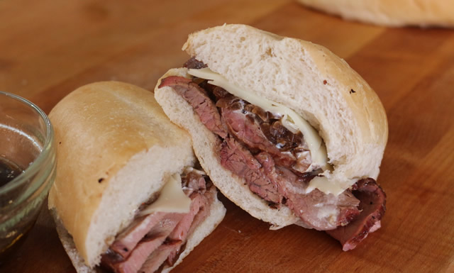 Smoked French Dip Sandwich
