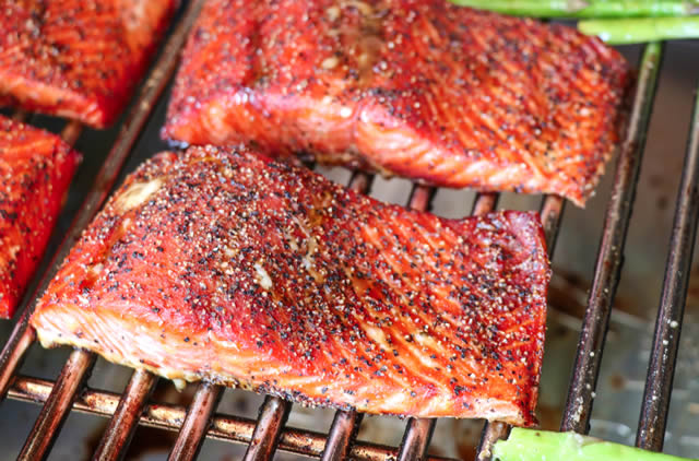 Molasses Glazed Salmon Recipe Grilled On Traeger Grill