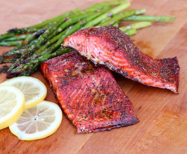 Molasses Glazed Salmon