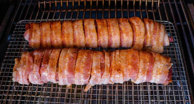 Bacon Wrapped Stuffed Venison Backstrap
