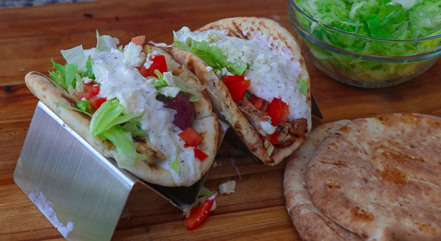 Grilled Chicken Pitas