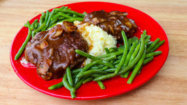 Smoked Hamburger Steak