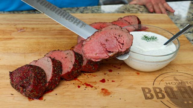 Sliced Herb Crusted Beef Tenderloin